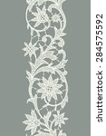 white lace. vertical ribbon.... | Shutterstock .eps vector #284575592