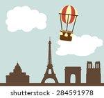 paris background balloon   Shutterstock .eps vector #284591978