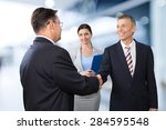 interview  job interview ... | Shutterstock . vector #284595548