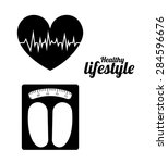 healthy lifestyle design over... | Shutterstock .eps vector #284596676