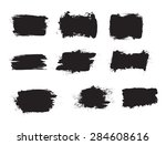 grunge shapes  set  black... | Shutterstock .eps vector #284608616