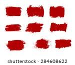 grunge shapes  set  red... | Shutterstock .eps vector #284608622