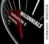 millennials  generation x and...   Shutterstock . vector #284613116