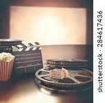 objects related to the cinema... | Shutterstock . vector #284617436