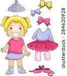 illustration of a little ballet ...   Shutterstock .eps vector #284620928