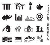 singapore icons set vector | Shutterstock .eps vector #284626172