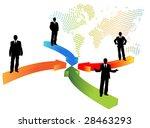 business people   Shutterstock .eps vector #28463293