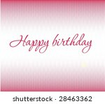 congratulatory card happy...   Shutterstock . vector #28463362