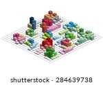 infographic isometric  graph ... | Shutterstock . vector #284639738