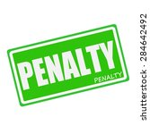 Penalty White Stamp Text On...