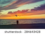 sunset in the famous baltic... | Shutterstock . vector #284643428