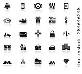 birthday gift icons with... | Shutterstock .eps vector #284646248