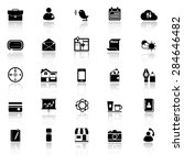 mobile icons with reflect on... | Shutterstock .eps vector #284646482