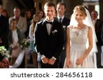 classic wedding ceremony of... | Shutterstock . vector #284656118