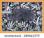 aloha hawaii. chalkboard... | Shutterstock .eps vector #284661575
