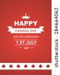 vector card for canada day.... | Shutterstock .eps vector #284664062