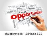 opportunities word cloud ... | Shutterstock . vector #284666822