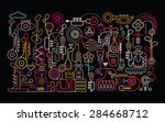 music shop abstract art vector... | Shutterstock .eps vector #284668712