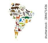 south america sloth anteater...   Shutterstock .eps vector #284671436
