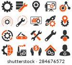 settings and tools icons.... | Shutterstock .eps vector #284676572