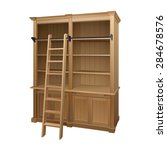 empty library bookcase with... | Shutterstock .eps vector #284678576