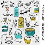 doodle illustration of... | Shutterstock .eps vector #284692712