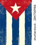 Flag Of Cuba. A Cuban Grunge...