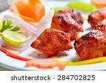 chicken tikka   Shutterstock . vector #284702825