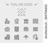 construction thin line icon set ... | Shutterstock .eps vector #284706602