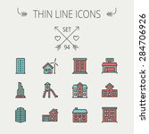 construction thin line icon set ... | Shutterstock .eps vector #284706926