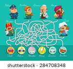game maze for children. funny... | Shutterstock .eps vector #284708348