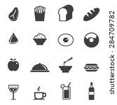 food and drink icons set  | Shutterstock .eps vector #284709782