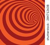Orange Spiral Striped Abstract...