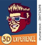 3d experience. vintage man... | Shutterstock .eps vector #284712698