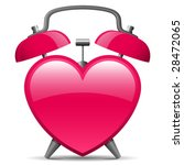 classic alarm clock in heart... | Shutterstock .eps vector #28472065