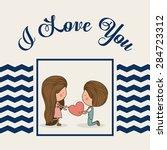 love design over white...   Shutterstock .eps vector #284723312