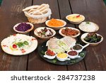 different appetizer and anti...   Shutterstock . vector #284737238