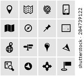 vector black map icon set. | Shutterstock .eps vector #284739122