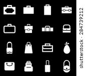 vector white bag icon set.  | Shutterstock .eps vector #284739212