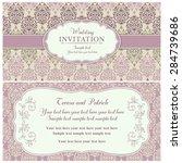 antique baroque wedding... | Shutterstock .eps vector #284739686