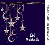 muslim community festival  eid...   Shutterstock .eps vector #284748488
