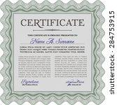 sample diploma. nice design....   Shutterstock .eps vector #284753915