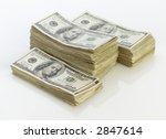 Stacks of money. - stock photo