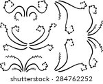 vector ornament lines | Shutterstock .eps vector #284762252
