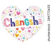 changsha heart shaped type... | Shutterstock .eps vector #284772635