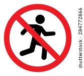 no run sign | Shutterstock .eps vector #284772866