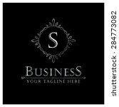 s letter luxury logo template... | Shutterstock .eps vector #284773082