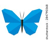 vector low poly style blue... | Shutterstock .eps vector #284790368