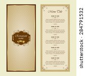 menu for restaurant   vector set | Shutterstock .eps vector #284791532