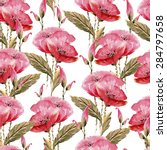 seamless pattern comprised of... | Shutterstock .eps vector #284797658